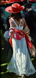 The Orange Shawl by Sherree Valentine Daines -  sized 6x12 inches. Available from Whitewall Galleries
